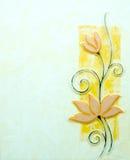 Tegelplattor blommabakgrunder Arkivfoto