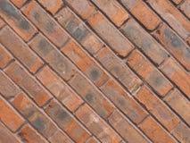 tegelplattor för bakgrund för vägg för röd tegelsten diagonala arkivfoton