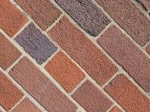 tegelplattor för bakgrund för vägg för röd tegelsten diagonala royaltyfri bild