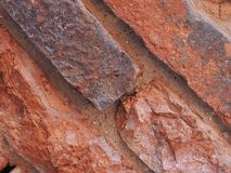 tegelplattor för bakgrund för vägg för röd tegelsten diagonala royaltyfri fotografi