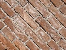 tegelplattor för bakgrund för vägg för röd tegelsten diagonala royaltyfri foto