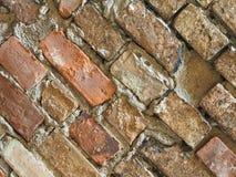 tegelplattor för bakgrund för vägg för röd tegelsten diagonala fotografering för bildbyråer