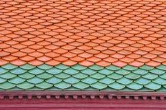 tegelplattor för färgmodelltak två Arkivfoton