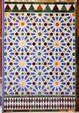 Tegelplattor glasade, azulejos, kunglig slott för Alcazar i Sevilla, Spanien Royaltyfri Foto