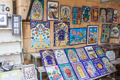 Tegelplattor med den orientaliska prydnaden Royaltyfri Fotografi
