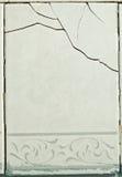 Tegelplattor med en spricka - strukturell skada arkivfoto