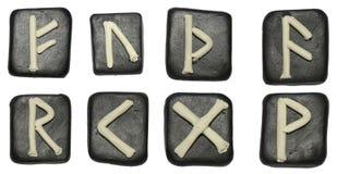 Tegelplattor med runor Royaltyfri Bild