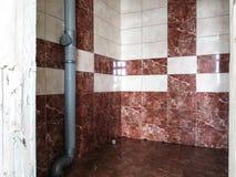 Tegelplattor på väggen Royaltyfria Foton