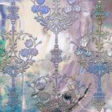 Tegelplattor planlägger dekorativ konst Royaltyfria Bilder