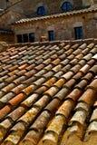 Tegels in het dak Stock Afbeeldingen