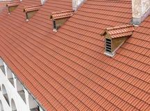 Tegels op het dak royalty-vrije stock foto