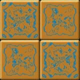 Tegels van de textuur de oranje badkamers royalty-vrije illustratie