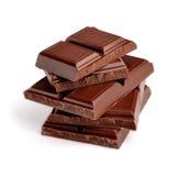 Tegels van donkere chocolade Royalty-vrije Stock Foto