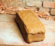 Tegelsten av lera Arkivbild