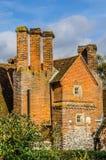 Tegelsten byggde den engelska herrgården Arkivbilder
