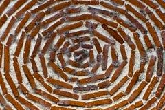 tegelsten cirklar red Fotografering för Bildbyråer