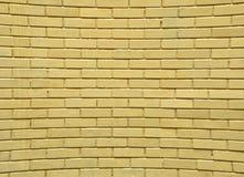 tegelsten förvriden vägg Royaltyfri Fotografi