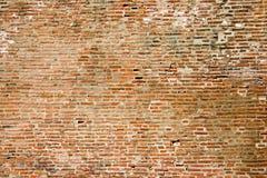 tegelsten gjorde den gammala väggen Royaltyfria Bilder