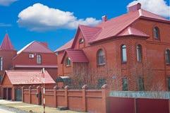 tegelsten houses red Royaltyfri Bild