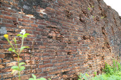 Tegelsten i den Dong Hoi citadellväggen, Quang Binh, Vietnam 2 Arkivfoton