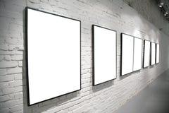 tegelsten inramniner väggwhite Royaltyfri Fotografi