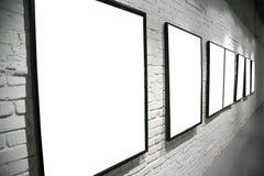 tegelsten inramniner väggwhite Royaltyfri Foto