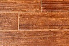 Tegelsten med brun bakgrund Royaltyfria Foton