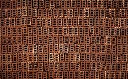 Tegelsten med hålet och linjen textur Arkivbild