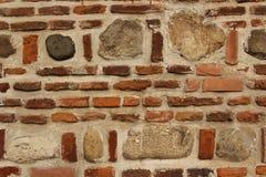 Tegelsten- och stenbakgrund Fotografering för Bildbyråer