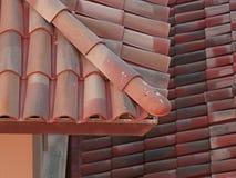 Tegelsten- och taktegelplattor arkivfoto