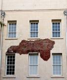 tegelsten synlig flaga gammal murbruk under Arkivfoton