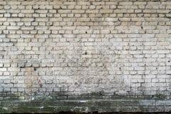 Tegelsten texturerad bakgrund eller tapet av smutsig vit färg Royaltyfria Foton