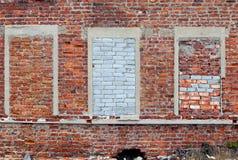 Tegelsten upp fönster Royaltyfri Fotografi