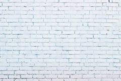 tegelsten vit målad vägg Fotografering för Bildbyråer