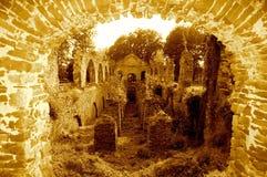 Tegelstenapelsinfönster Royaltyfri Fotografi