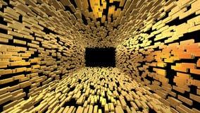 Tegelstenar för guld- stänger gräver att zooma ut och gräver utvidgning royaltyfri illustrationer