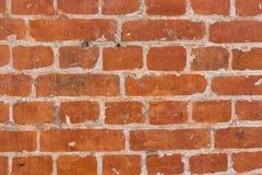tegelstenar gjorde den gammala röda väggen Royaltyfria Bilder
