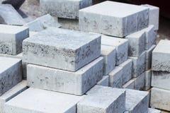 Tegelstenar i en byggnadsplats för byggnationer Royaltyfri Foto