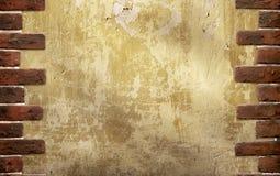 tegelstenar inramniner den gammala väggen Royaltyfri Fotografi