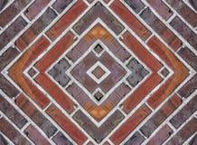 Tegelstenar kvadrerade bakgrund Royaltyfria Bilder
