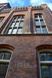 Tegelstenar och Windows Arkivbilder