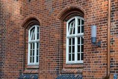 Tegelstenar på tegelstenar på Windows Arkivbilder