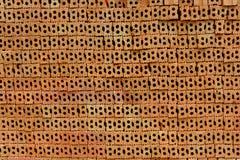 Tegelstenar som används för byggnadskonstruktion Arkivbilder