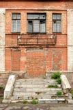 tegelstenar som bygger dilapidated gammal red Royaltyfri Fotografi