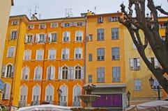 tegelstenar som bygger gammal red för facade Arkivfoto