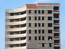 tegelstenar som bygger konkret konstruktion Fotografering för Bildbyråer