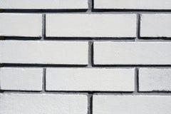 tegelstenar texture white Arkivbild