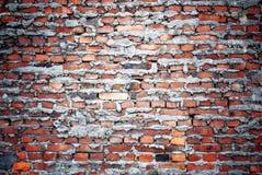 Tegelstenar wall med cementtextur Arkivfoto