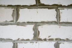 tegelstenar wall white Royaltyfri Fotografi