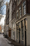 Tegelstenbyggnader Amsterdam Royaltyfri Bild